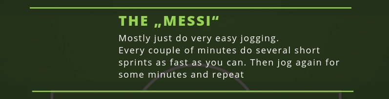 The Lionel Messi variation of the soccer run workout