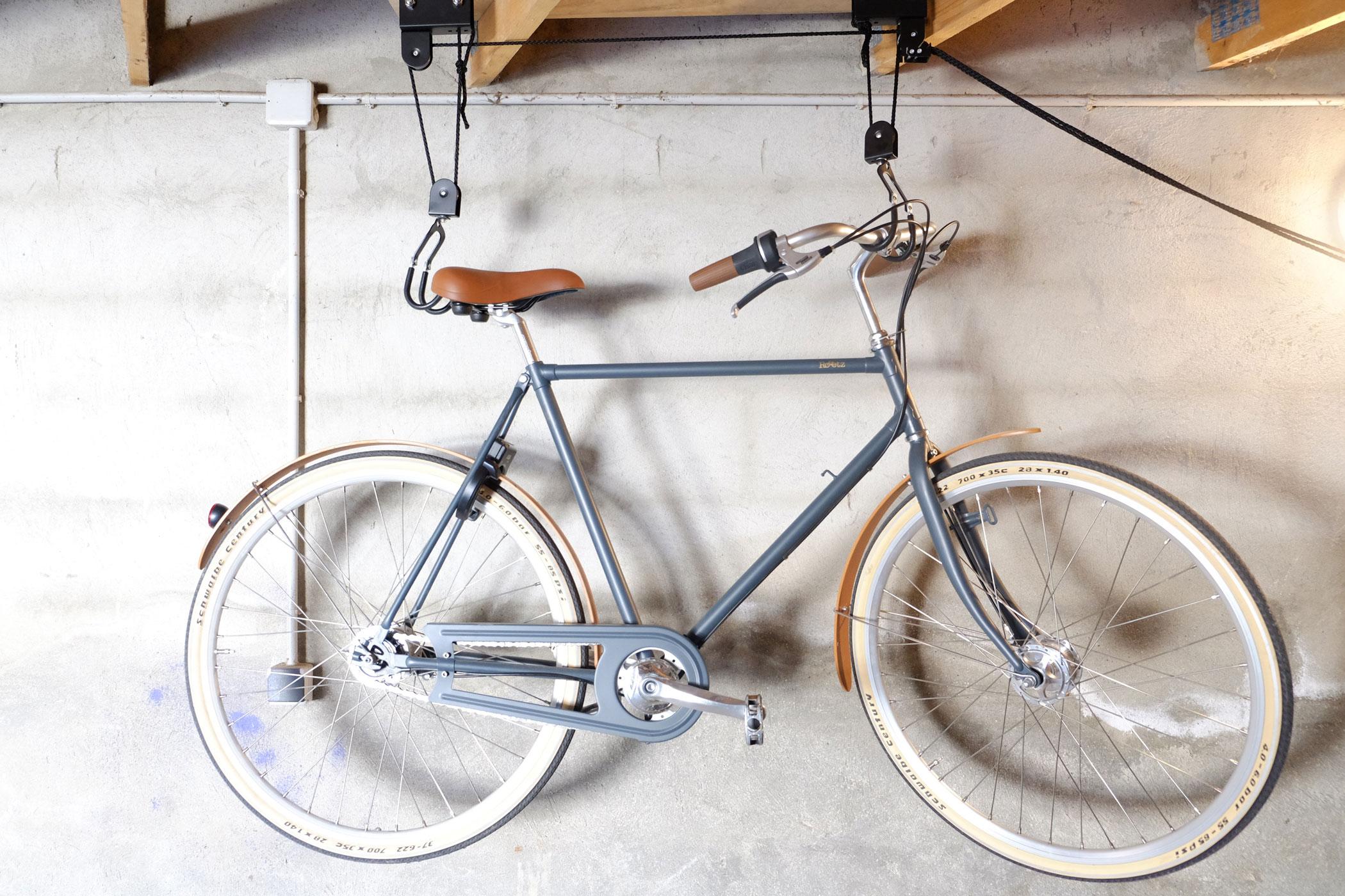 Support Velo Au Plafond range vélo au plafond - avec des poulies svp