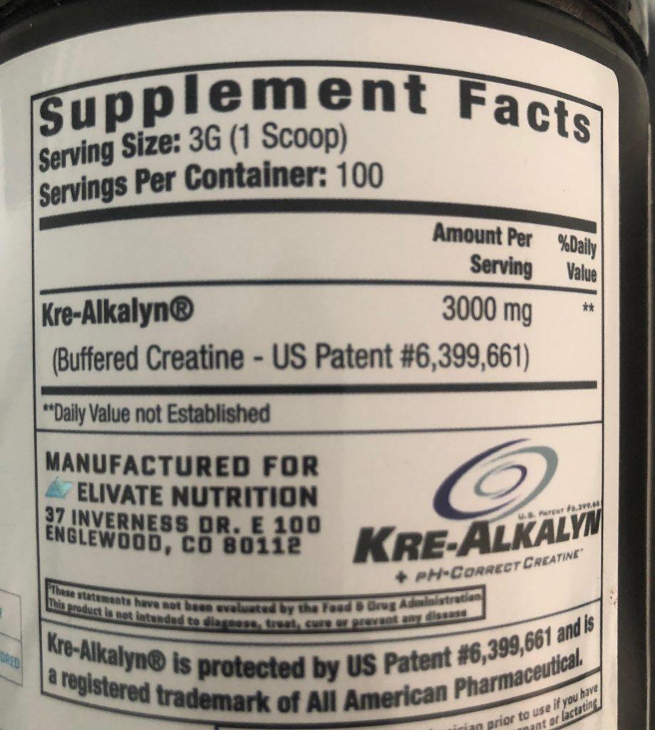 hypertrophy creatine Kre-Alkalyn Creatine