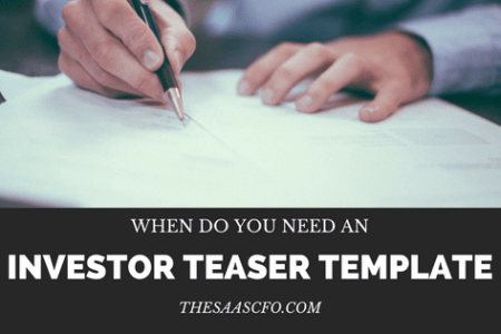 When Do You Need an Investor Teaser Template    The SaaS CFO When Do You Need an Investor Teaser Template