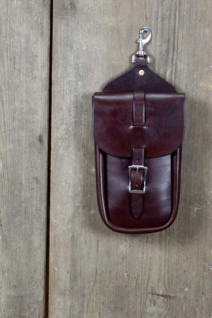 Large Single Saddle Bag Close-Up