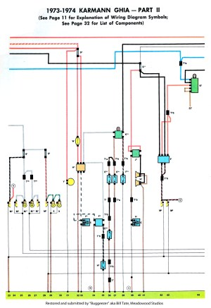 TheSamba :: Karmann Ghia Wiring Diagrams
