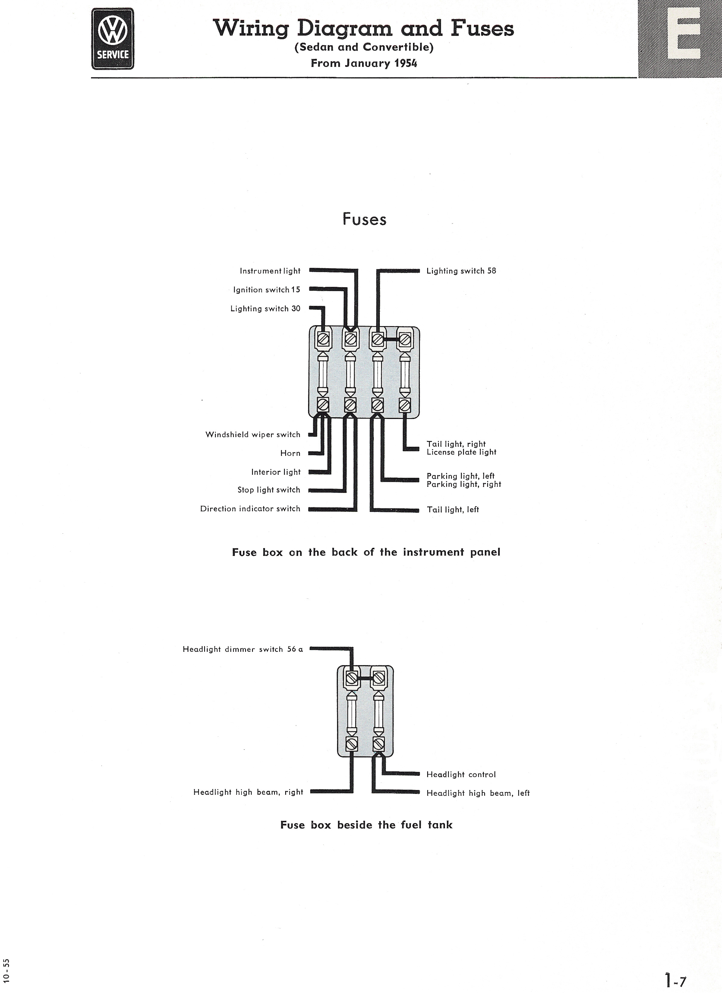 Volkswagen Beetle Fuse Diagram