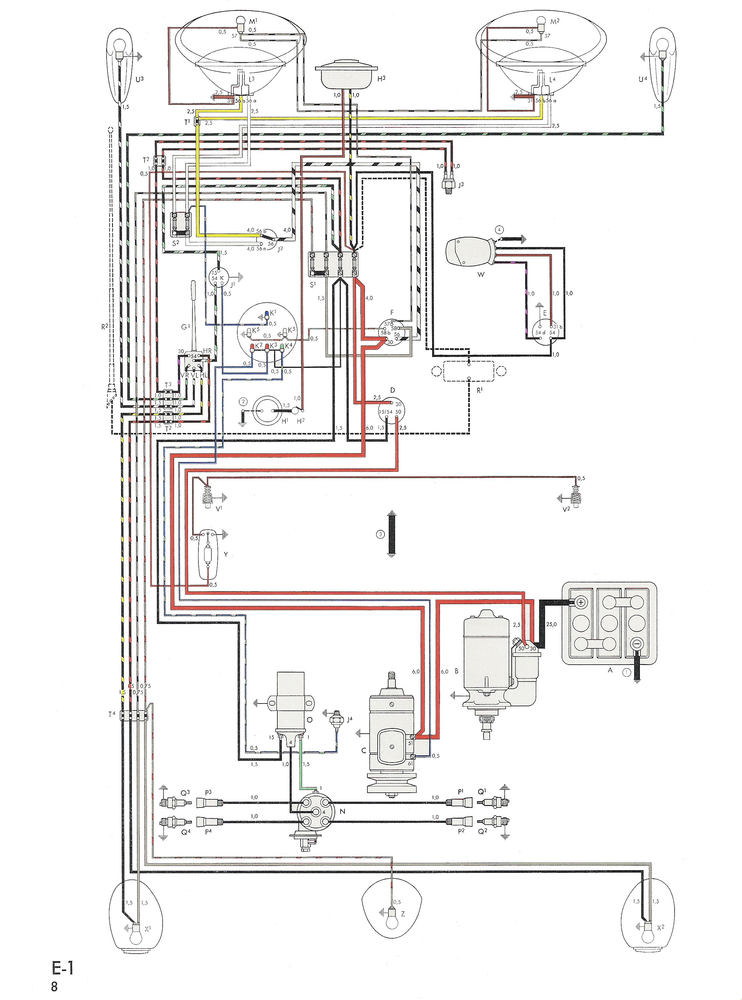 1975 vw beetle wiring diagram rh homesecurity press
