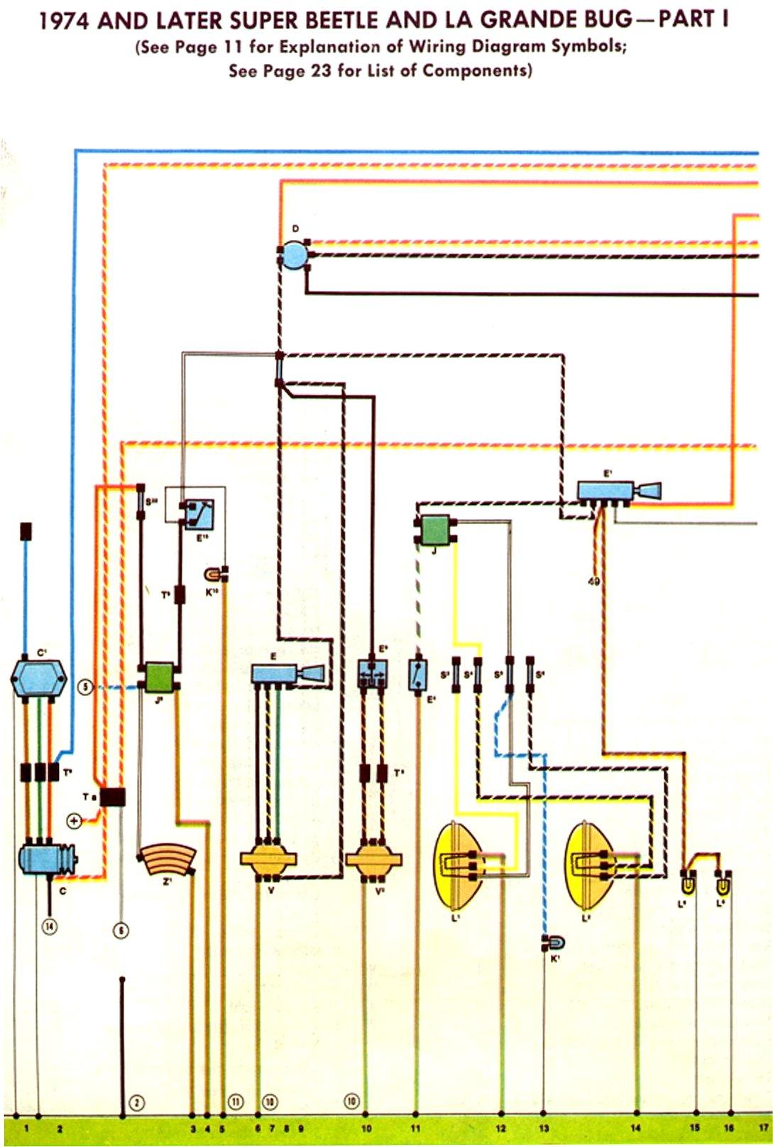74 Vw Alternator Wiring Diagram Schematics Diagrams Rail Motorola