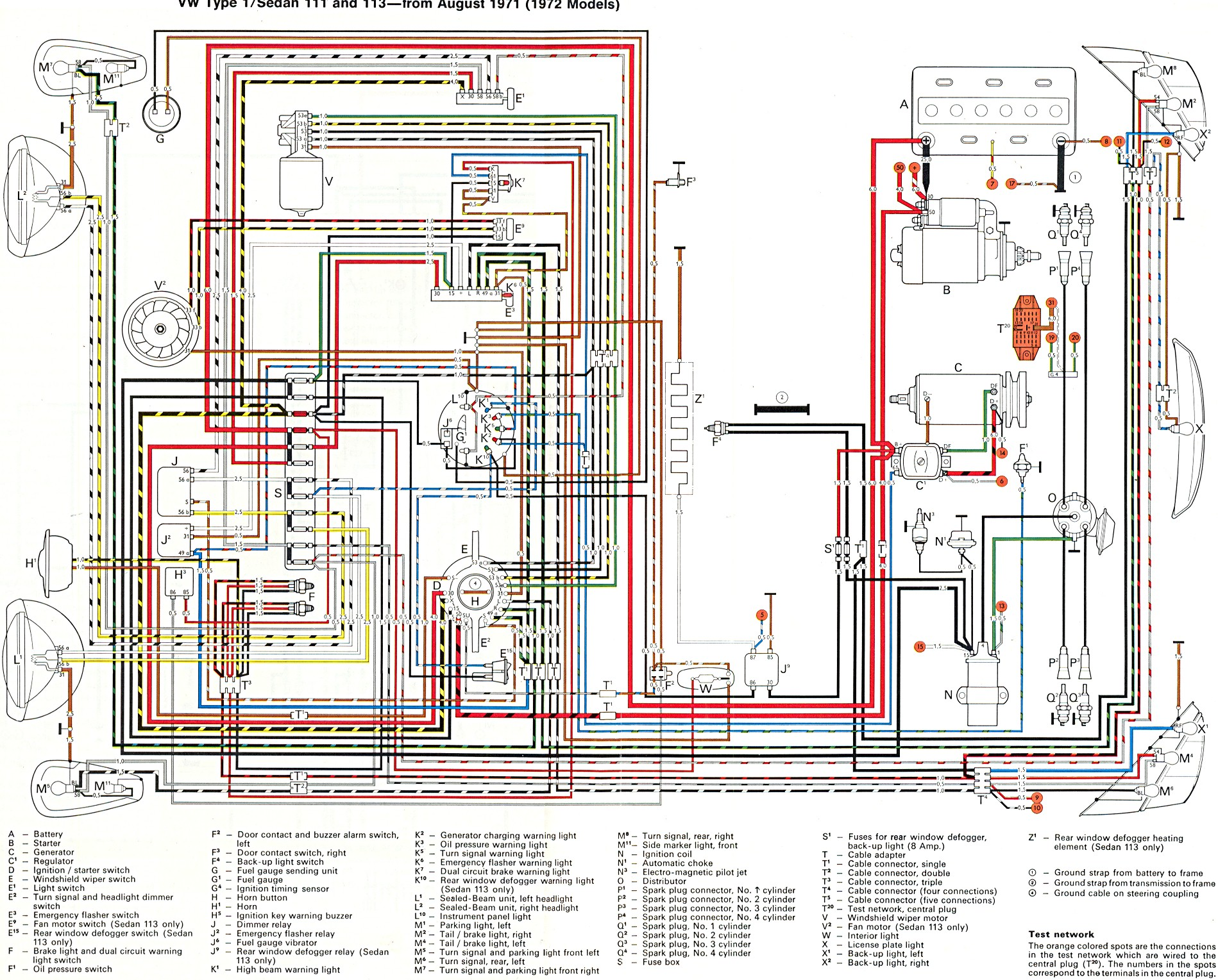 bug_std_super_72 72 beetle volkswagen wire diagrams volkswagen wiring diagram 1971 vw super beetle wiring diagram at bayanpartner.co