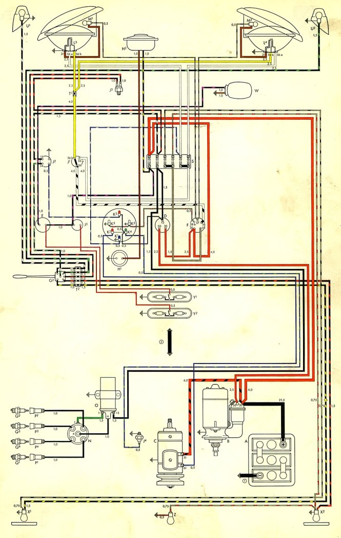 vw t wiring diagram vw image wiring diagram 1970 vw bug wiring schematic wiring diagrams on vw t2 wiring diagram