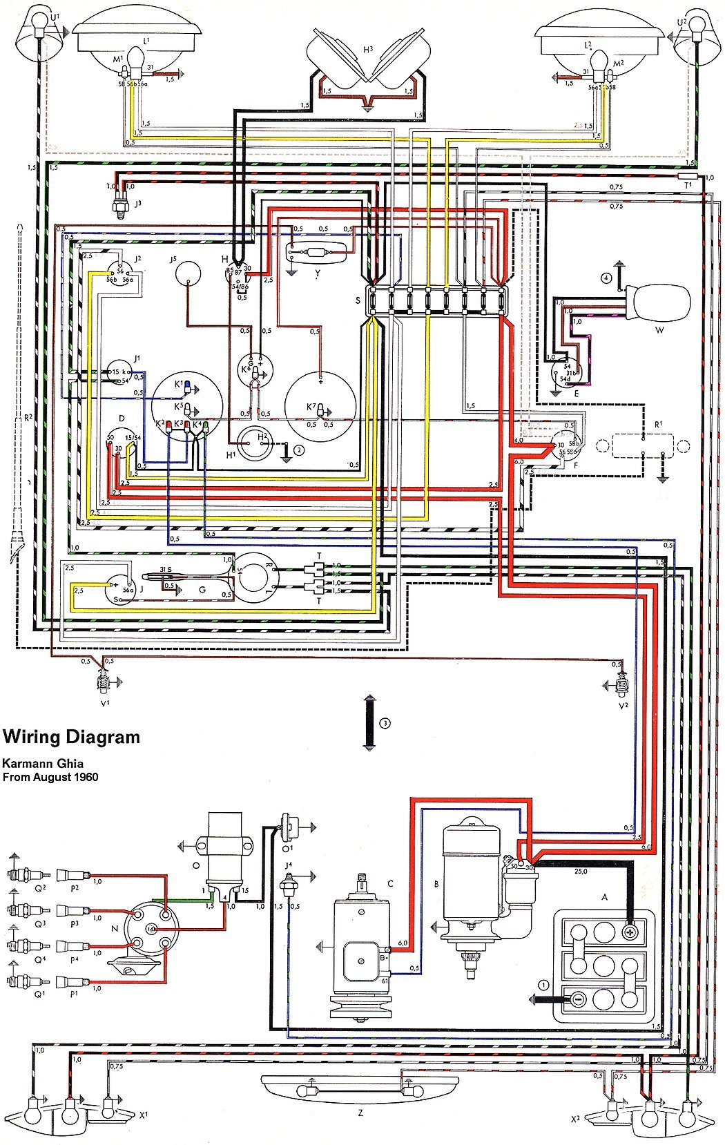 1972 Vw Beetle Wiring Harness Diagram – Karmann Ghias For Wiring Diagrams