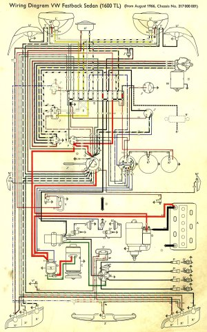 Vw Beetle And Super Beetle 1971 Electrical Wiring Diagram