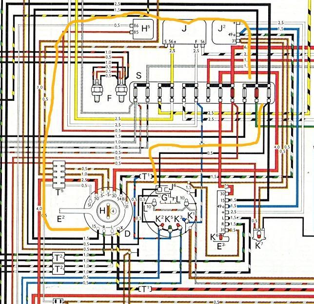 1974 vw beetle wiring diagram video simonand 1973 super heater Vintage Bus Wiring 73 Super Beetle Wiring Diagram 74 VW Beetle Ignition Wiring Diagram