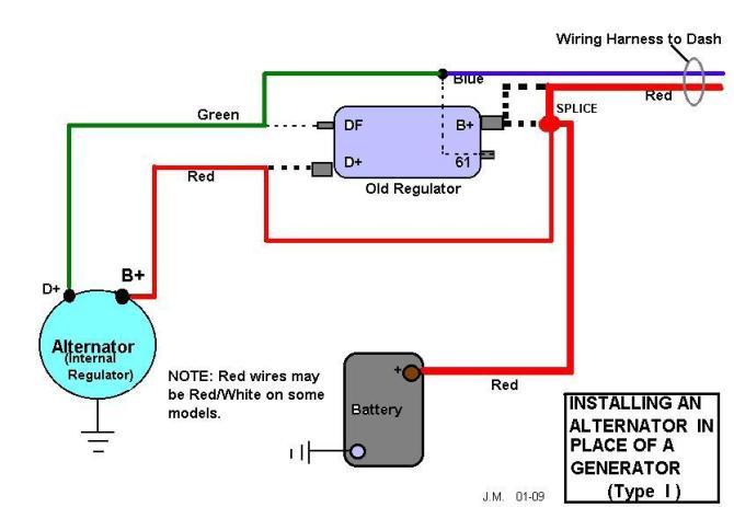 vw alternator conversion wiring diagram  wiring diagram