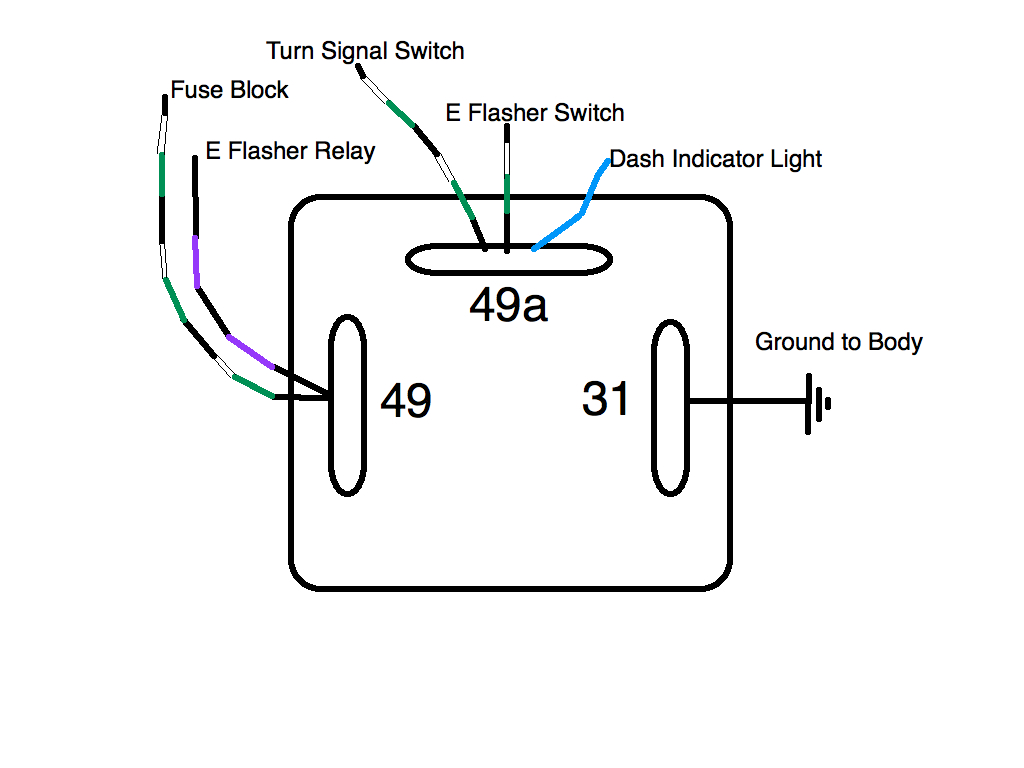 3 Pin Flasher Relay Diagram