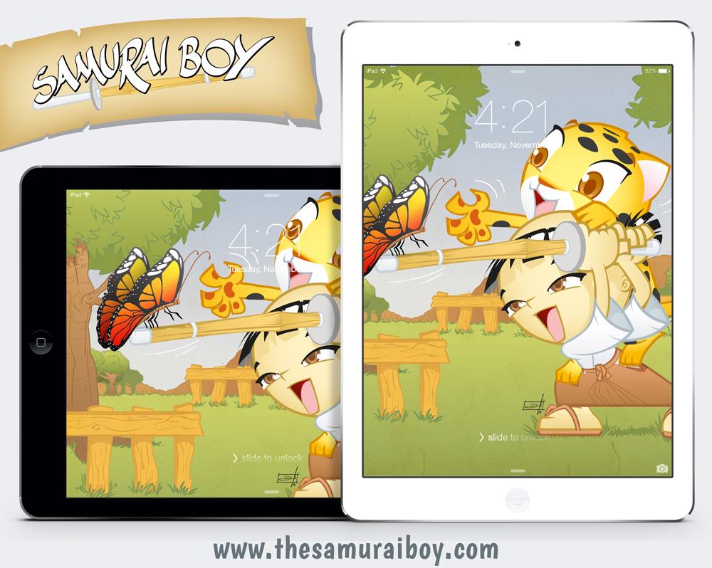 Samurai Boy iPad and iPad mini free wallpaper, by Danilo Aroeira
