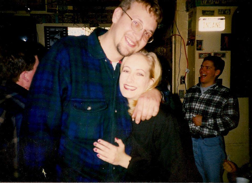 Dave and Debbi met at the Sandbar in January, 1996