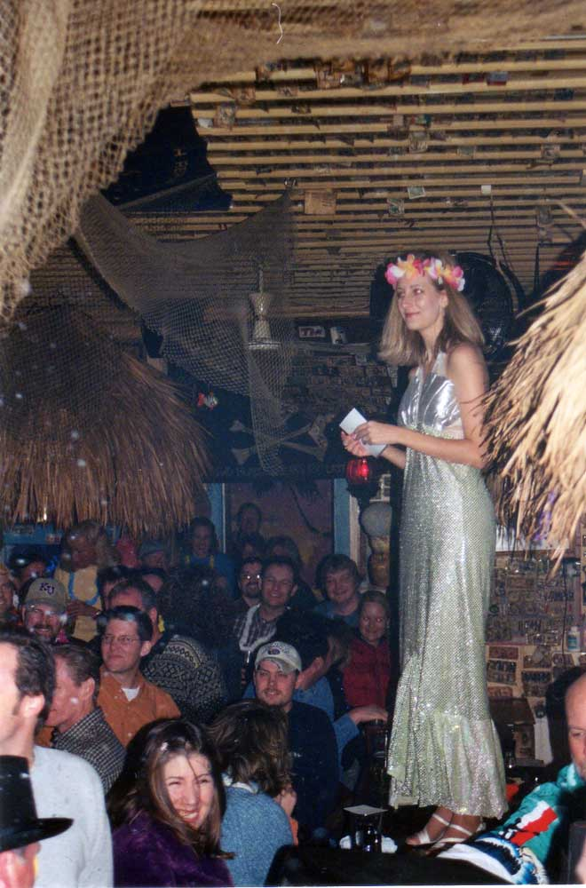 First mermaid at the Sandbar in Lawrence, Kansas (2002)