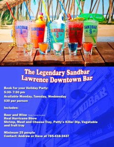 Sandbar Holiday Party Option