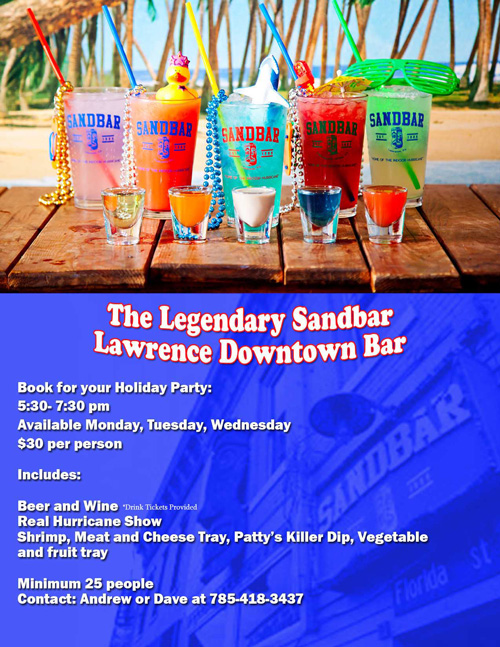 Sandbar Holiday Party Options