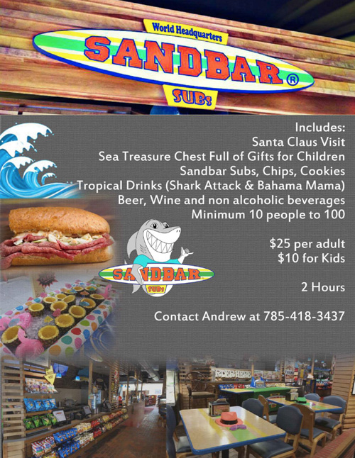 Sandbar Subs Holiday Party Options