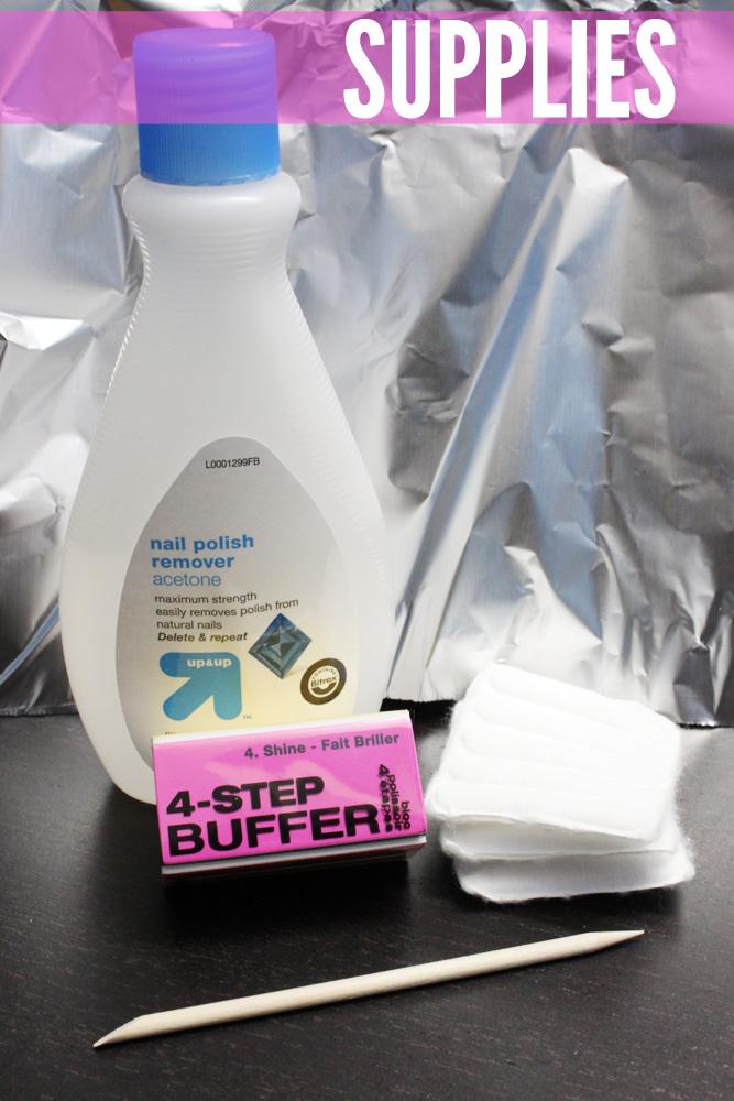 Supplies to remove shellac nail polish
