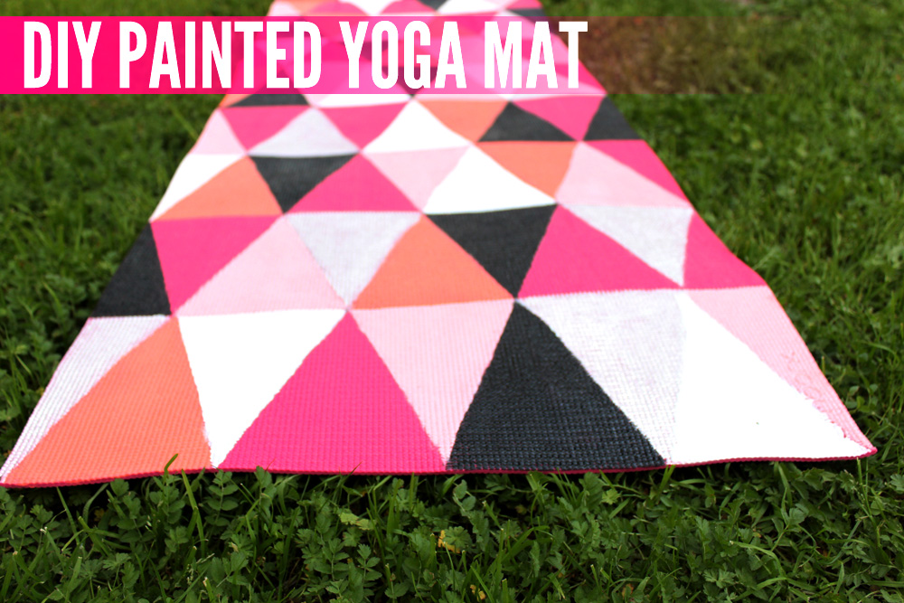 DIY Painted Yoga Mat - thesassylife