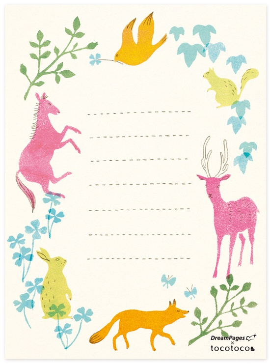 Animal-Note-Prinable