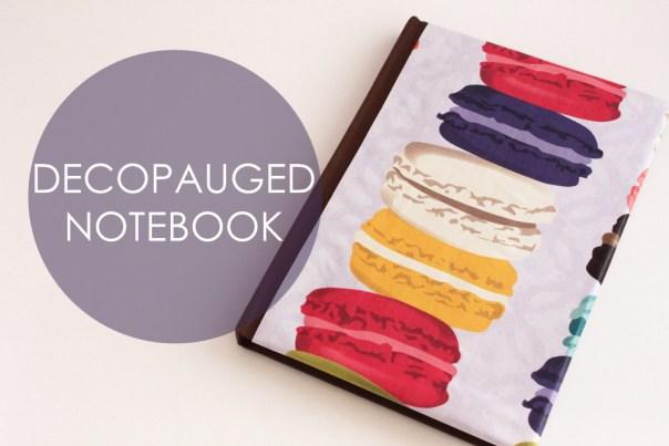 Decoupaged Notebook