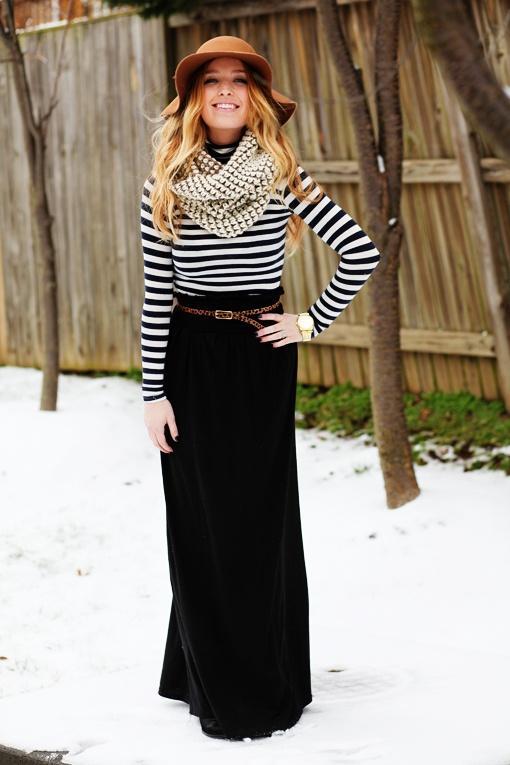 86ec2d1a5b Ways to Wear a Maxi Skirt - thesassylife