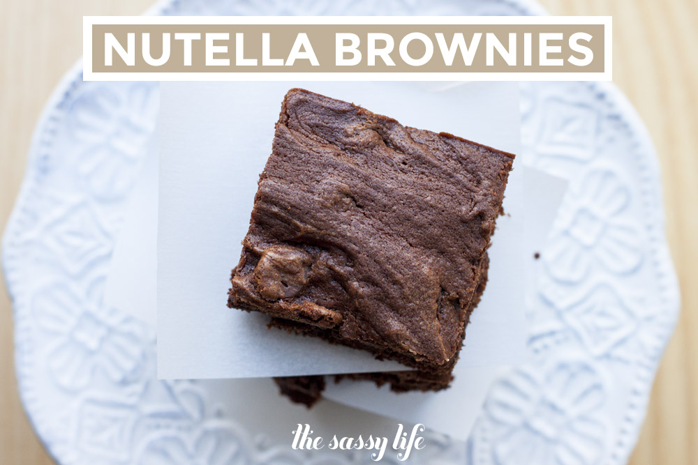 Nutella Brownies – thesassylife