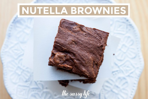 Nutella Brownies at thesassylife