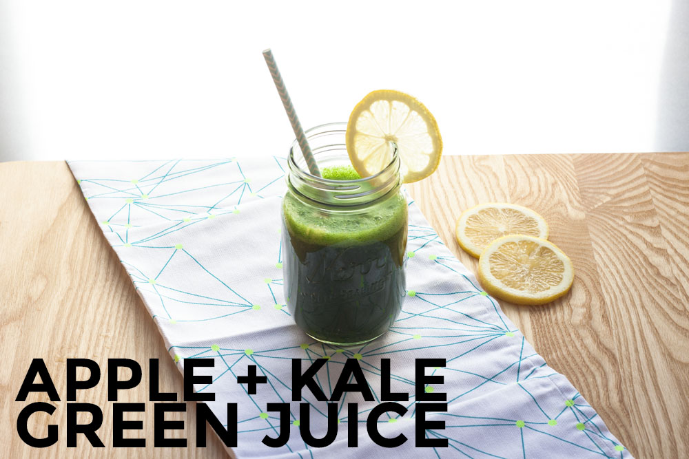 Apple + Kale Green Juice @ thesassylife