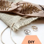 DIY Burlap Pouch Tutorial