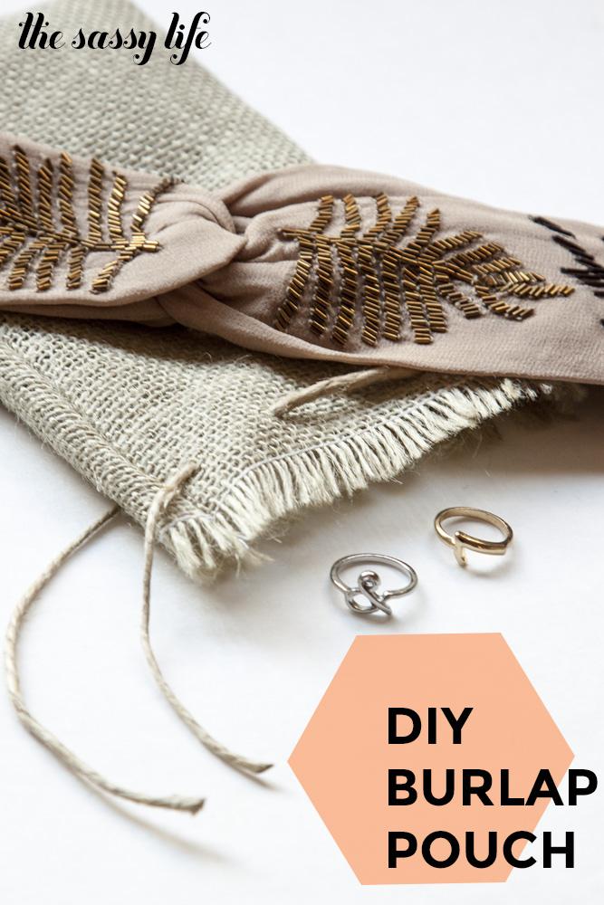 DIY Burlap Pouch