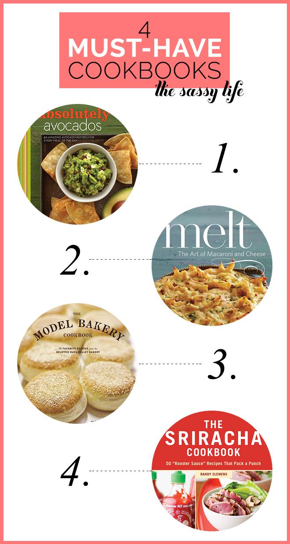 4 Must Have Cookbooks