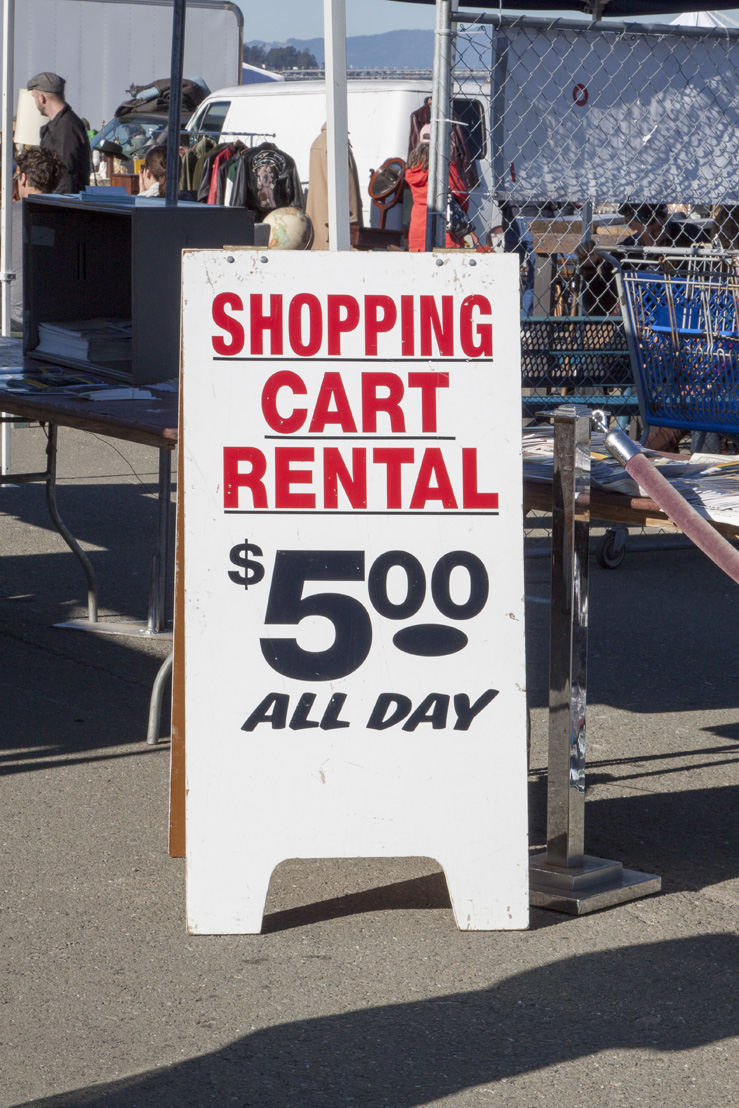 Shopping Cart Rental. You won't think you'll need one until you get inside the faire!