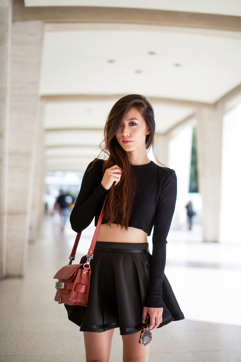 Circle Skirt Crop Top Neon Blush