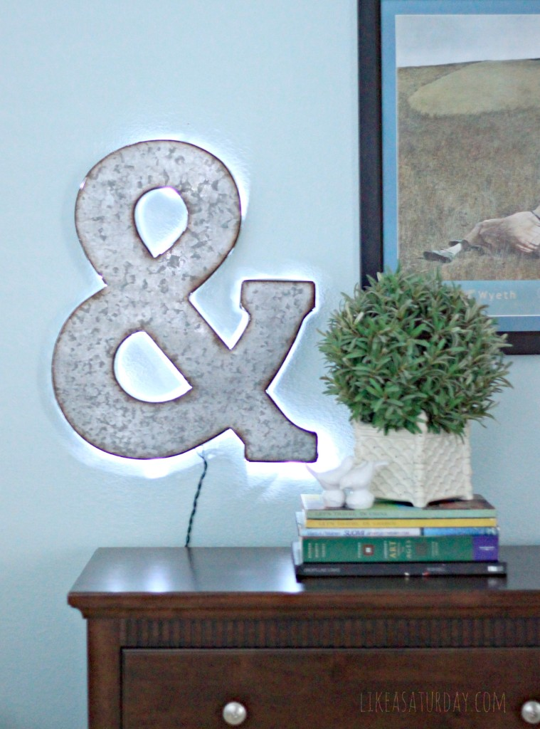 DIY Backlit Marquee Letter