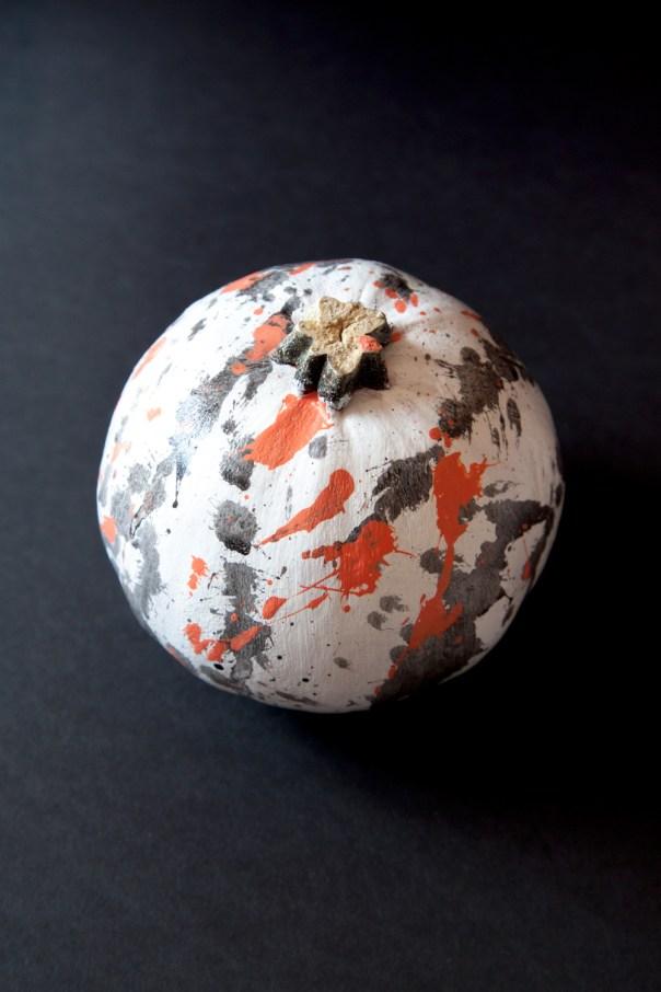 Splatter Paint Pumpkins