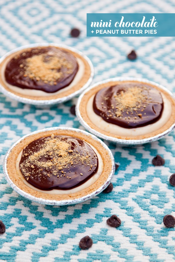 Mini Chocolate & Peanut Butter Pies