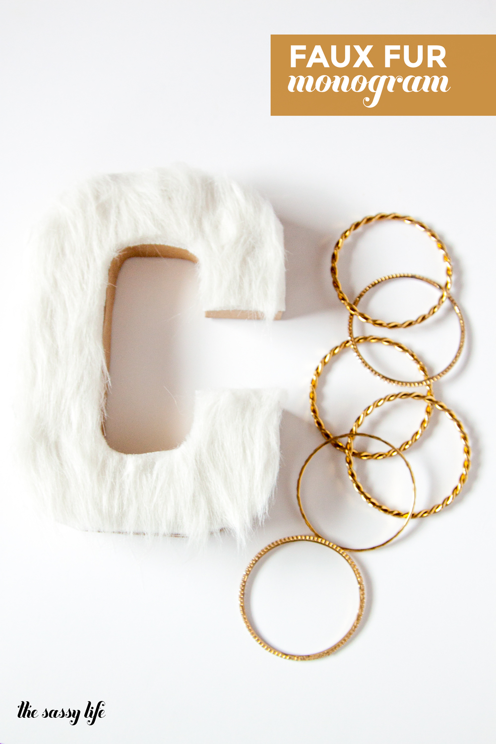 Faux Fur Monogram