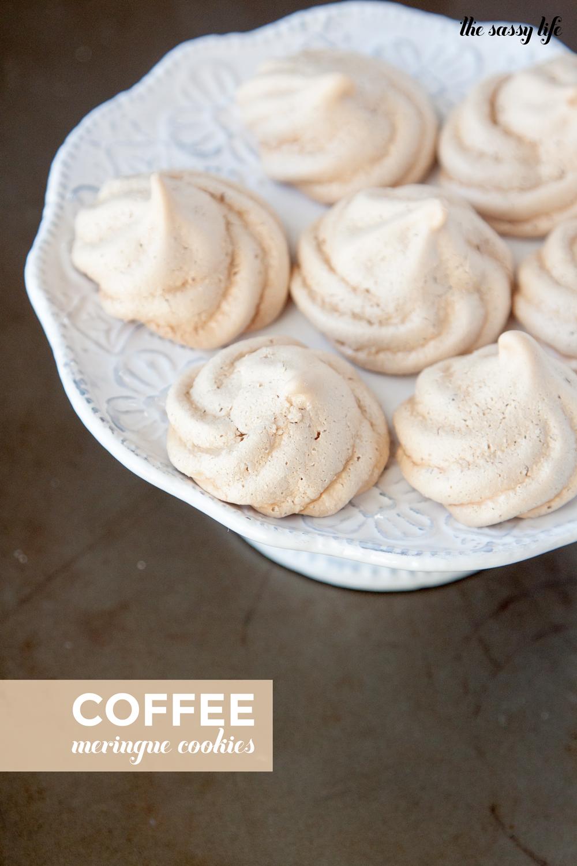 Coffee Meringue Cookies