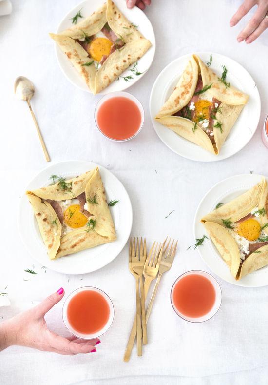 Breakfast Crepe Squares