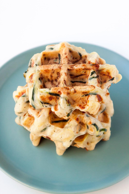 Waffled Zucchini Mozzarella Fritters