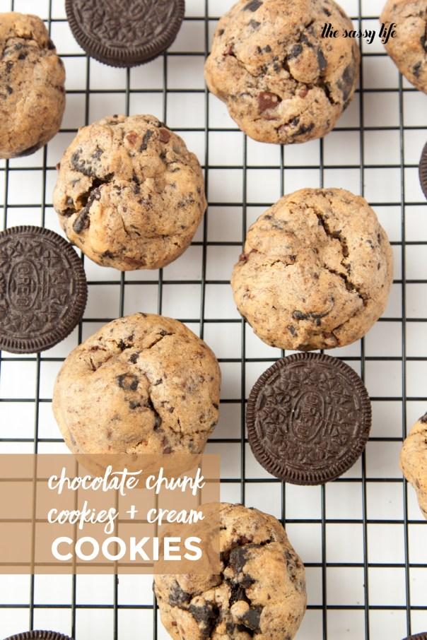 Chocolate Chunk Cookies and Cream Cookies