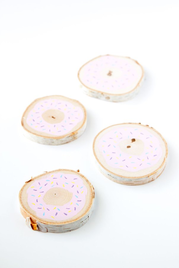 DIY Donut Coasters