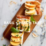 Basil + Peach Tart