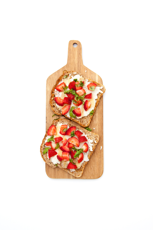 Strawberry + Basil Toast