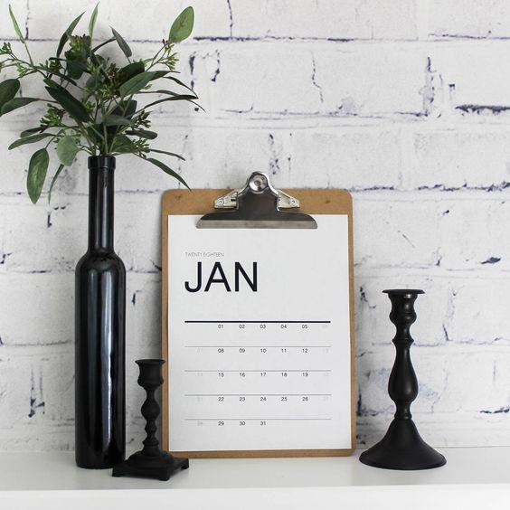 Modern Calendar by Lindi at Love Create Celebrate