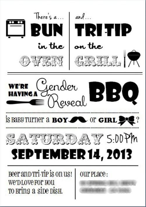 Gender Reveal Baby BBQ