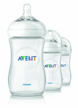 Philips AVENT 9 Ounce BPA Free Natural Polypropylene Bottles