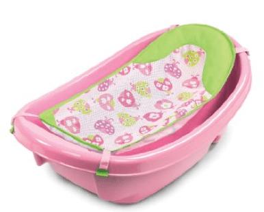 Summer Infant 3 Stage Newborn to Toddler Baby Bath, Love Ladybug